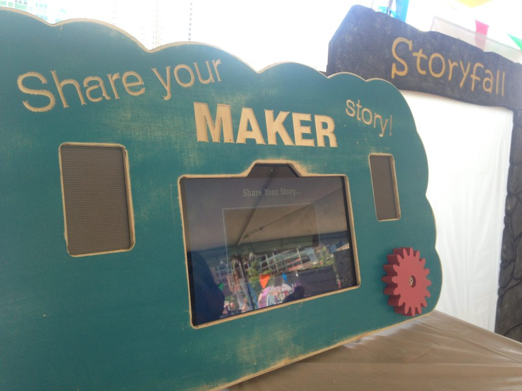 storykiosk at Boston Mini-Maker Faire