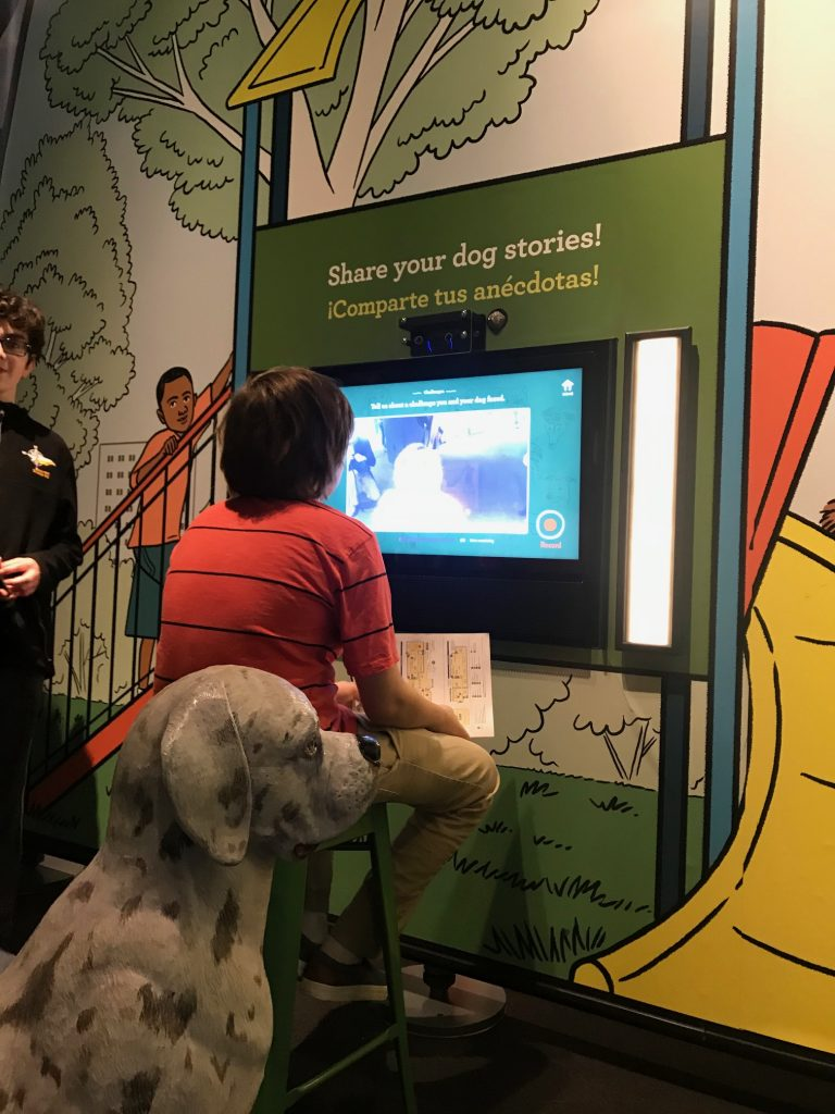 storykiosk in dogs exhibit
